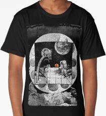 Space Moon Planet Basketball Astronaut Sports Long T-Shirt