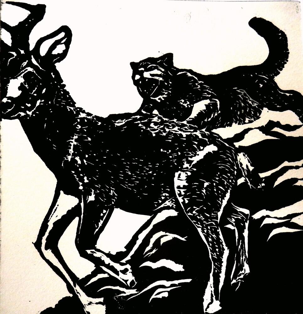 Tiger Eats Deer by Sarah Jeffrey
