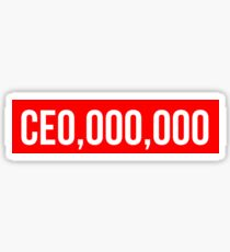 CE0,000,000  CEO,000,000 Sticker