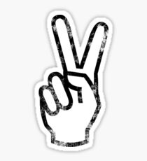 black gradient peace out fingers Sticker