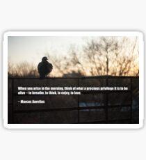 Morning Gratitude. Quote by Marcus Aurelius. Sticker