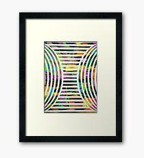 Compression Framed Print