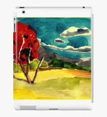 autumn landscape with red tree iPad Case/Skin