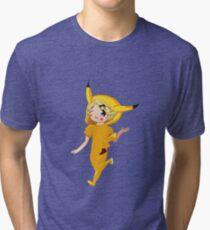 Pika Yoo  Tri-blend T-Shirt