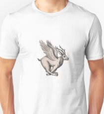 Wolpertinger Running Side Tattoo Unisex T-Shirt
