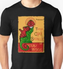 Chat Bataille Slim Fit T-Shirt