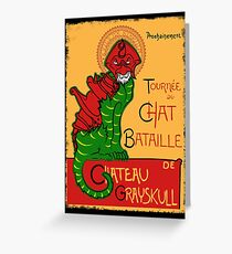 Chat Bataille Greeting Card