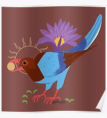 Familiar - Sri Lanka Blue Magpie Poster