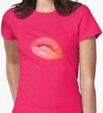 lips girl hot teen beautiful model pretty teeth mouth gloss attractive nice pink T-Shirt