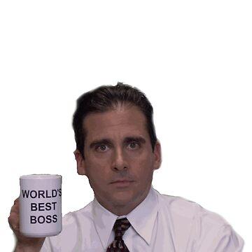 Michael Scott worlds best boss by cheyannekailey