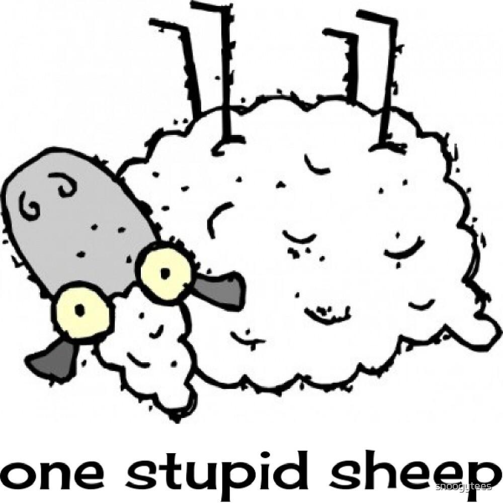 One Stupid Sheep by snoogytees