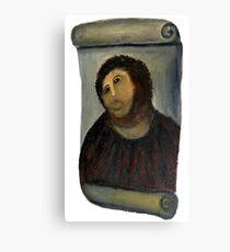 ecce homo restoration Canvas Print