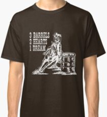 3 Barrels, 2 Hearts, 1 Dream Barrel Racing Design Classic T-Shirt