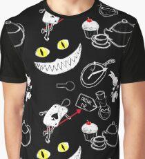Alice in Wonderland Pattern Graphic T-Shirt