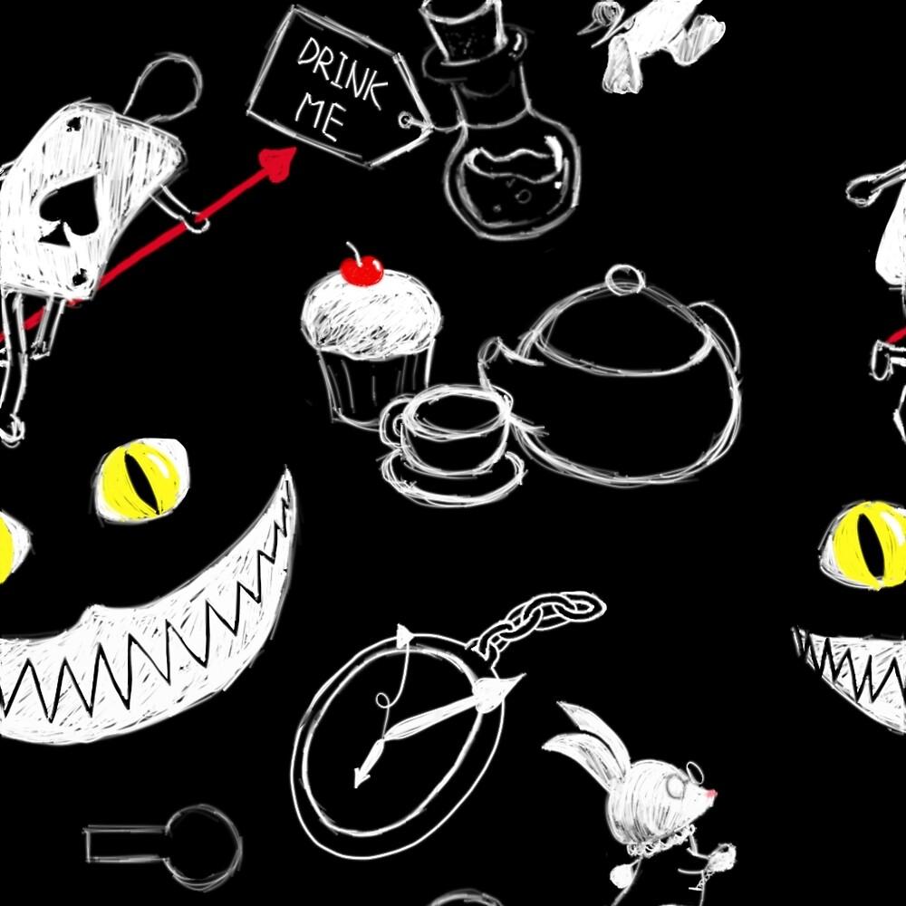 Alice in Wonderland Pattern by TearsFromVenus
