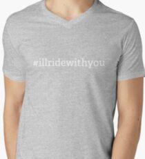 #illridewithyou - white Men's V-Neck T-Shirt