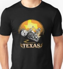 Texas Motorcycle Gang Hobby Graphic Design  Unisex T-Shirt