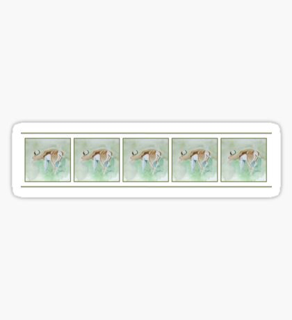 Lodge décor - Springbok in the Game Reserve Mix & Match throw Pillow Sticker