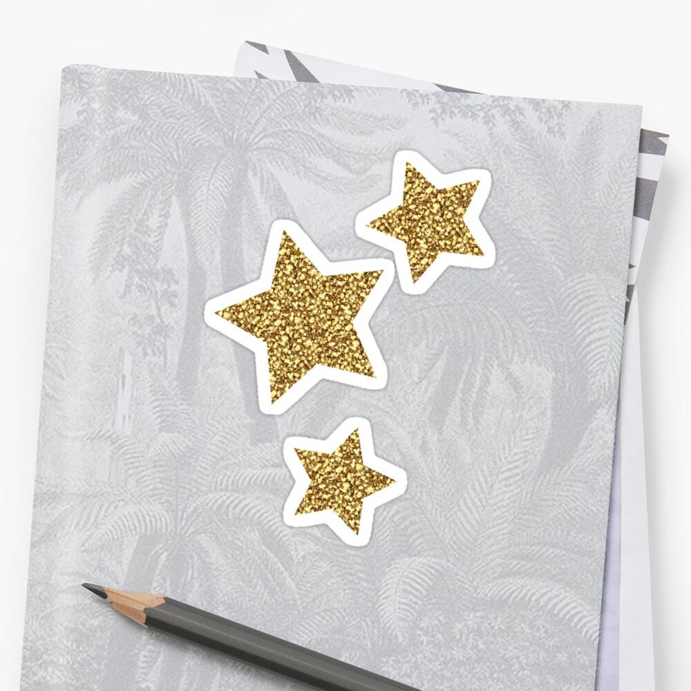 Glitter Stars Trio Sticker