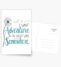Ich möchte Abenteuer Postkarten