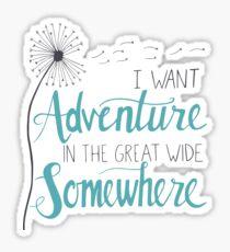 I want Adventure Sticker