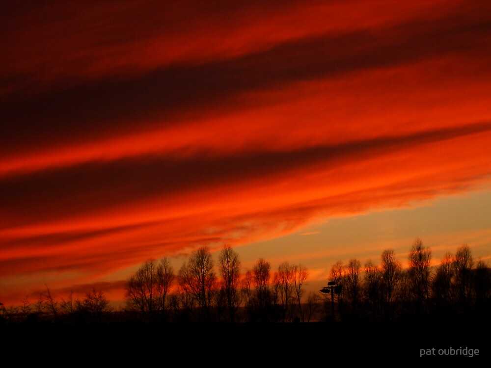 Flaming skies by pat oubridge
