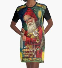 Merry Christmas Vintage -Available As Art Prints-Mugs,Cases,Duvets,T Shirts,Stickers,etc Graphic T-Shirt Dress