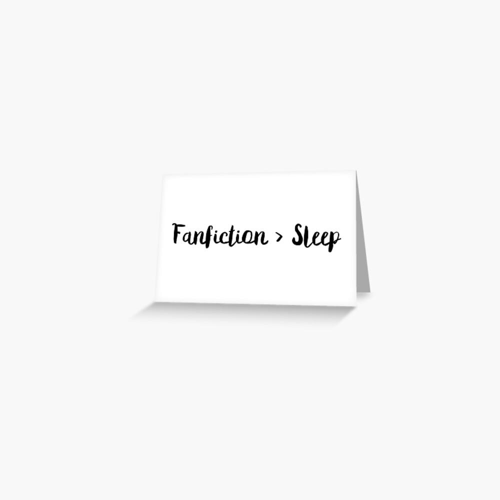 Fanfiction> Schlaf Grußkarte
