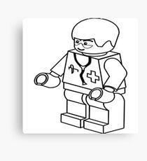 Lego Doctor Canvas Print