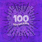100 Countries - Purple Edition by Deirdre Saoirse Moen