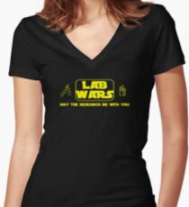 Lab Wars - May the research be with you ! Women's Fitted V-Neck T-Shirt