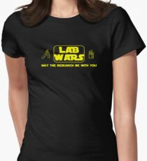 Lab Wars - May the research be with you ! Womens Fitted T-Shirt