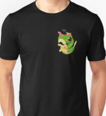 Derpy Caterpie with a Pizza Pie Unisex T-Shirt