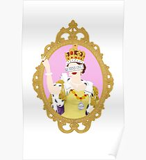 """""""Queens Only"""" - Queen Elizabeth II Poster"""