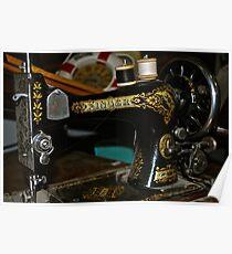 Antique Singer Sewing Machine Poster