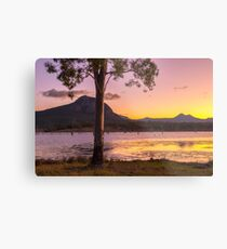Colourful sunset at Lake Moogerah in Queensland Metal Print
