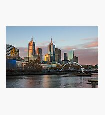 Melbourne Skyline from Southbank, Melbourne Australia. Photographic Print