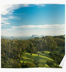 Mount Beerwah in the afternoon sun. Poster