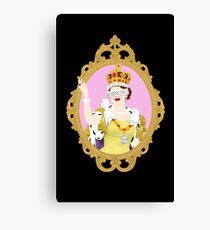 """""""Queens Only"""" - Queen Elizabeth II (ON BLACK) Canvas Print"""