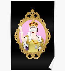 """""""Queens Only"""" - Queen Elizabeth II (ON BLACK) Poster"""