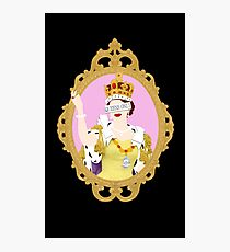 """Queens Only"" - Queen Elizabeth II (ON BLACK) Photographic Print"