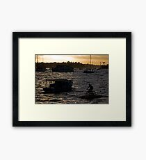 Bicycling In Sydney Harbour Framed Print