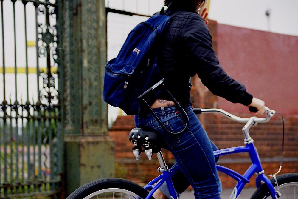 eva biking by CathySurgeoner