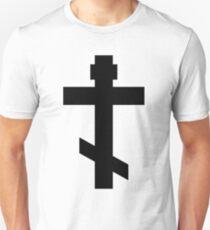 Orthodox Christian Cross (Black) Unisex T-Shirt