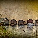 Huts at the lake by Kurt  Tutschek