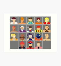 Select Your Character - Street Fighter Alpha 2 Art Print