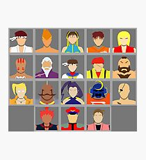Select Your Character - Street Fighter Alpha 2 Photographic Print