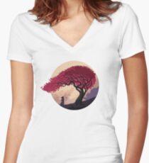 Finally Back Women's Fitted V-Neck T-Shirt