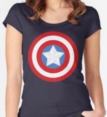 Camiseta entallada de cuello redondo El Capitán Shield