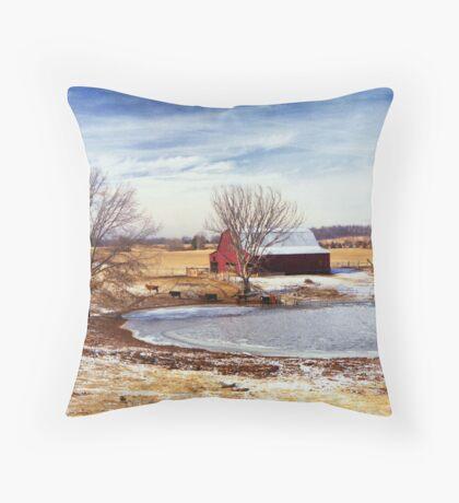Martin Farm Throw Pillow